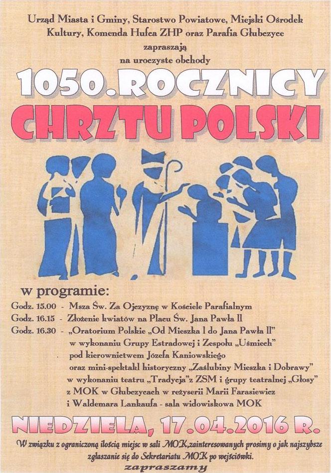 1050 lecie Chrztu Polski - plakat