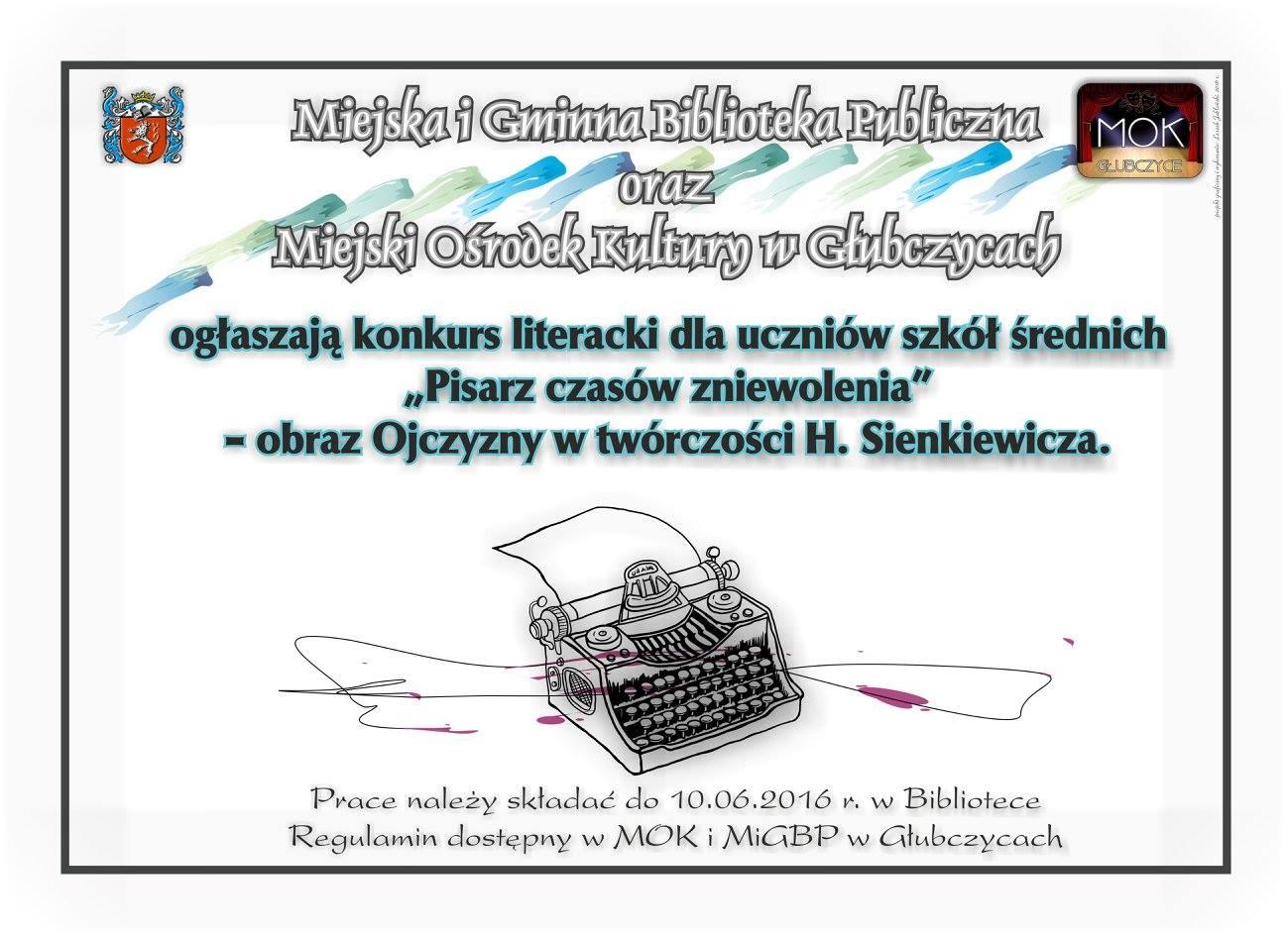 Sienkiewicz - do 10 czerwca - konkurs - plakat