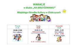Zajęcia wakacyjne w MOK w Głubczycach