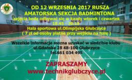 Rusza amatorska sekcja badmintona