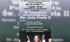 W rocznicę pontyfikatu św. Jana Pawła II