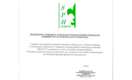 Ogłoszenie o likwidacji SPH